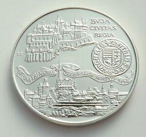 Hungary 1990 BP 500 Forint King Mathias Buda Civitas Regia Silver UNC C|5997