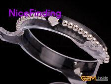 "3mm Fashion Silver Plated Ball Heart Bracelets Adjustable Women Girl Jewelry 7"""