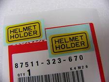 """Honda CB 125 200 250 450 650 750 Aufkleber Set """" Helmet Holder """" 87511-323-670"""