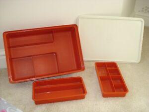 Vintage Tupperware Sewing Craft Box