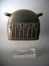 4#Antique Bronze Elephant Bell With Clear Stand Beautiful Rare Cheap Don't Miss