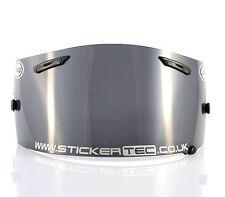 Helmet visor sticker decal, sponsor, nickname, web site, race number, custom.