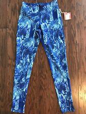 Mossimo Women's Glacial Blue Print Yoga Pants, Size Small