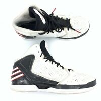 Adidas Derrick Rose Mens Basketball Shoes White Black Lace Up Mid Top G48804 8