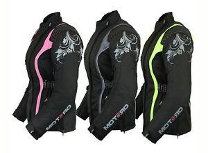 Ladies Women Motorcycle Motorbike Waterproof windproof Cordura Jacket Coat