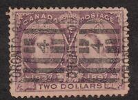Sc62 - Canada - $2 - 1897 Diamond Jubilee - Used - superfleas - cv $600