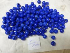 perle vintage, lot de 170 perle en verre ronde bleu lapis diam 13 mm environ