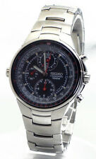 SEIKO Criteria Chronograph SND491 SND491P1 Mens Pilot Aviation Sliderule Watch