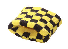 Vibrant & Tres Cool - Yellow & Black Check Cube/Stretchy Wrist Bands(Zx263)