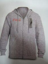 Coca-Cola Gray Zip-Up Sweatshirt w/hood -  2X Large      NEW