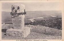 A5488) WW1 ZONA SACRA SUL SAN MICHELE, CIPPO A FRANCESCO RISMONDO DI SPALATO. VG
