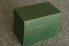 Vintage Home Made Index Card Recipe Card Forrest Green Painted Wood Box