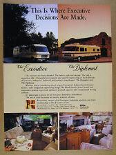 1986 The Executive & Diplomat Motorhomes RV color photos vintage print Ad