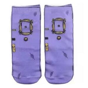 Friends TV Series Peephole Frame Purple Socks (32)