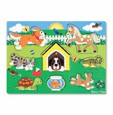 Melissa & Doug 19053 Pets Wooden Peg Puzzle