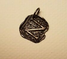 """WAXING POETIC STERLING SILVER Century Insignia LETTER """"N""""CHARM/PENDANT"""