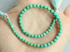"8"" Arizona Sleeping Beauty Turquoise Smooth Round Ball Gemstone Beads 3-4mm."