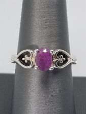 Women's Sterling Silver 925 Ring With Ruby Free Shipping! #80851