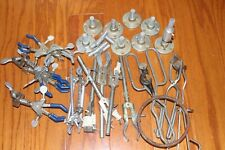 Lot of Fisher Castaloy & other 3- way Adjustable Test Tube Flask Clamps Holders