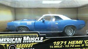 American Muscle ERTL 1971 Hemi 'Cuda Blue 1/18 Limited Edition 50th Anniv. MIB