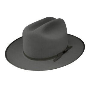 STETSON OPEN ROAD CARIBOU ROYAL DELUXE FUR FELT DRESS HAT