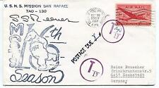 1967 U.S.N.S. Mission San Rafael TAO-130 MSTS Polar Antarctic Cover SIGNED
