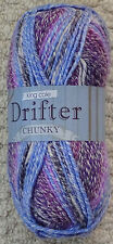 2 X 100g King Cole Drifter Chunky Acrylic Knitting Wool Yarn Naples Kuala Lumper