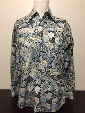 Vtg 1970s Playboy Vargas First Collage Chemise Et Cie Disco Pimp Shirt L Pin Up