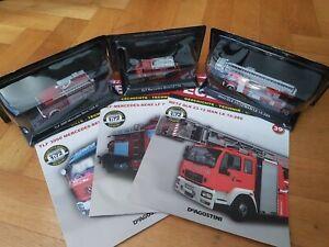 De Agostini Feuerwehrauto 3 Stück