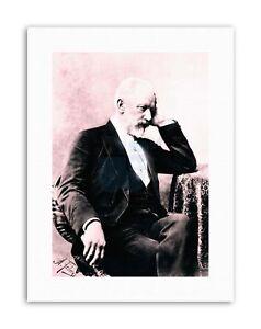 FEDECKI COMPOSER PETER TCHAIKOVSKY Poster Vintage Portrait Canvas art Prints