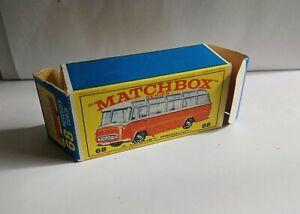 MATCHBOX 68 MERCEDES COACH.  EMPTY E TYPE BOX VGC !
