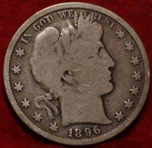 1896 Philadelphia Mint Silver Barber Half Dollar