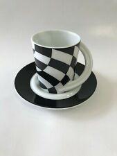 Pair Rosenthal Cupola Espresso Sammeltasse Cups & Saucer No 11 Jan van der Vaart