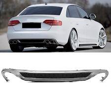 Für Audi A4 B8 8K RS4 S4 Grill Diffusor Spoiler Stoßstange Heckspoiler 4 Rohr #_