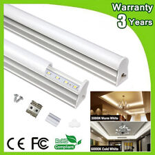 LED Integrated Light Fixture Linkable Utility Shop Lights T5 T8 Fluorescent New