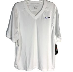 Nike Men's Size L Large Stock Untouchable Speed Core Last Jersey White AH3351