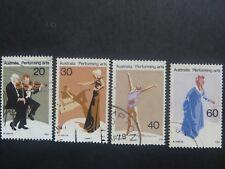 Australia Performing Arts 1977 - Set of 4 - Good Used Condition