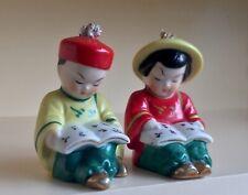 Vintage ROYAL NIPPON JAPAN Boy & Girl Traditional Dress SALT & PEPPER SHAKERS