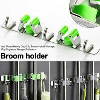 Convenient Wall Mounted Mop Organizer Brush Broom Hanger Rack Storage X5S7