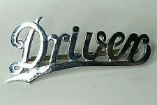 More details for tram or bus driver chrome cap badge italic script with underline 67 x 30 mm