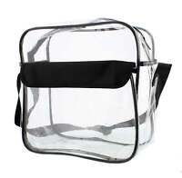 Clear Purse NFL Stadium Approved Bag with Zipper and Shoulder Strap