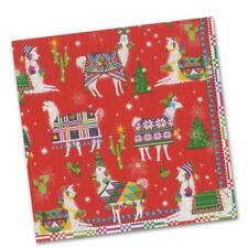 "Caspari Hello Dolli Holiday Paper Luncheon Napkins 6.5"" Square (2 sets) 40 pack"