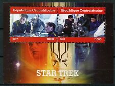 Central African Rep 2017 MNH Star Trek Kirk Spock 2v M/S Movies Stamps