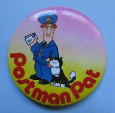 POSTMAN PAT vintage 1980s licensed Gemma designs  I LOVE CHRISTMAS tin pin BADGE