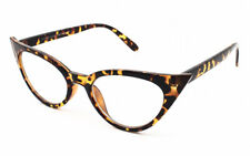 Ladies Clear Lens Tortoiseshell Cat Eye Rockabilly Glasses Geek Nerd Eyeglasses