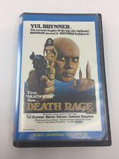 DEATH RAGE - 1976 - VHS - PAL - Video Universal Label - NETHERLANDS - VERY RARE