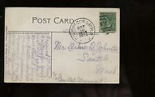 "US PPC Picture Post Card 1908 with Great RPO Cancel ""CHI.OREGON&MPLS"""