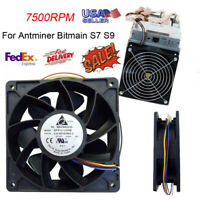 7500RPM Cooling Fan Replacement 4-pin Connector For Antminer Bitmain S7 S9 DC12V