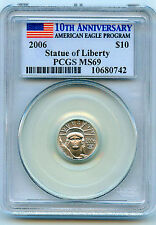 2006 Platinum $10 American Eagle 1/10 oz Coin PCGS MS-69 Key Date of Series!