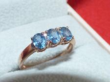 Kanchanburi Sapphire Rose Gold Silver Ring